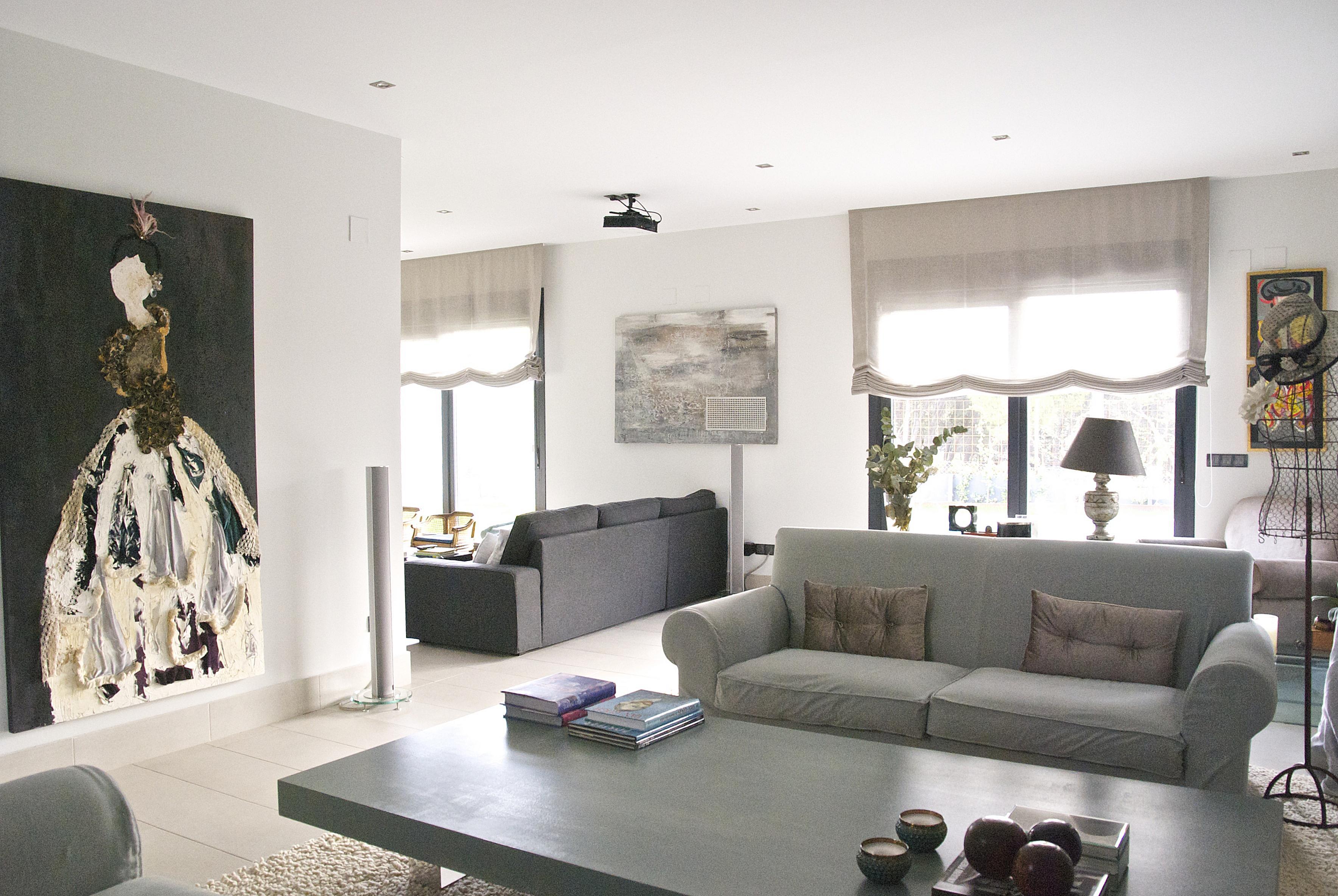 Salón de una vivienda reformada y decorada por el estudio Libia Bárcenas