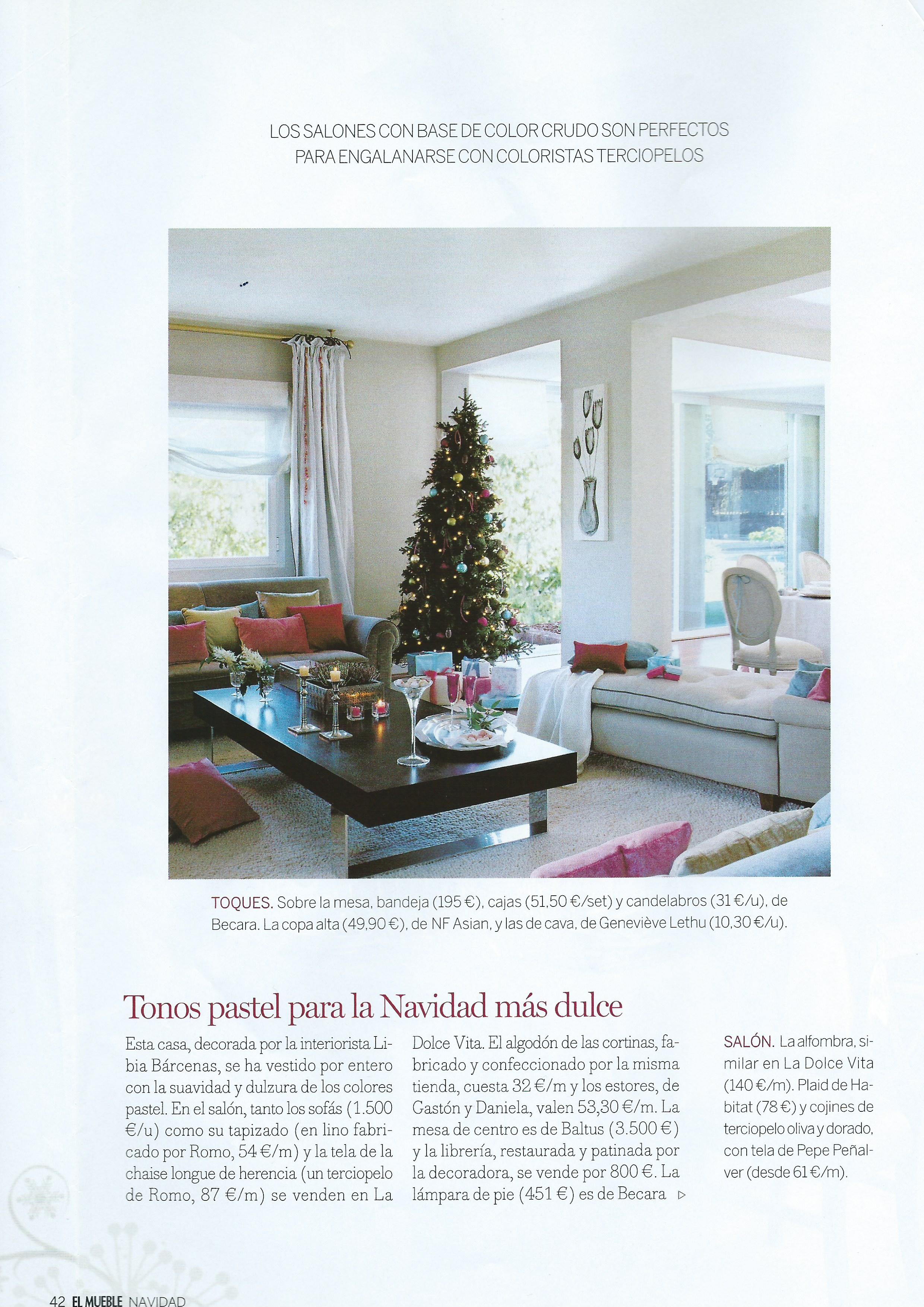 Salón con árbol de Navidad por Libia Bárcenas