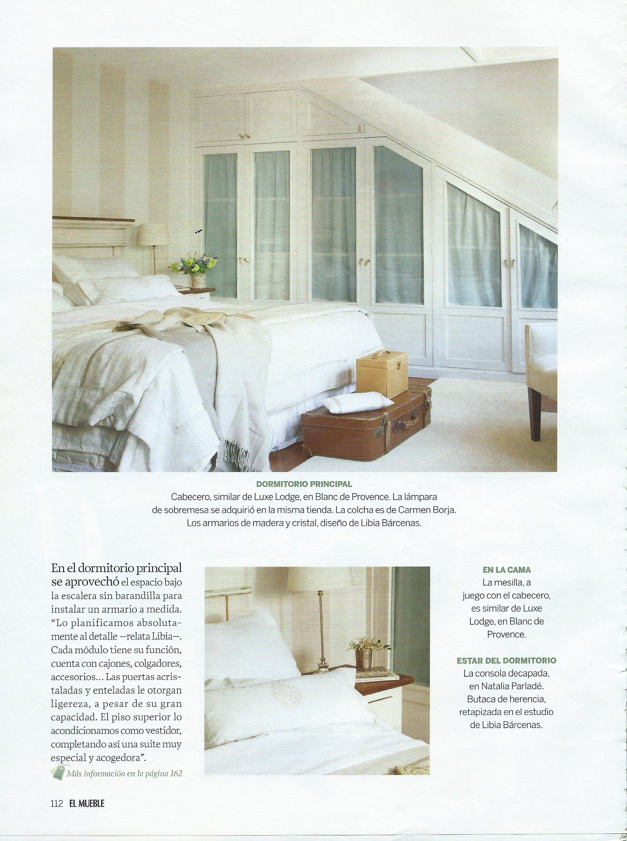 Dormitorio principal decorado por el estudio Libia Bárcenas