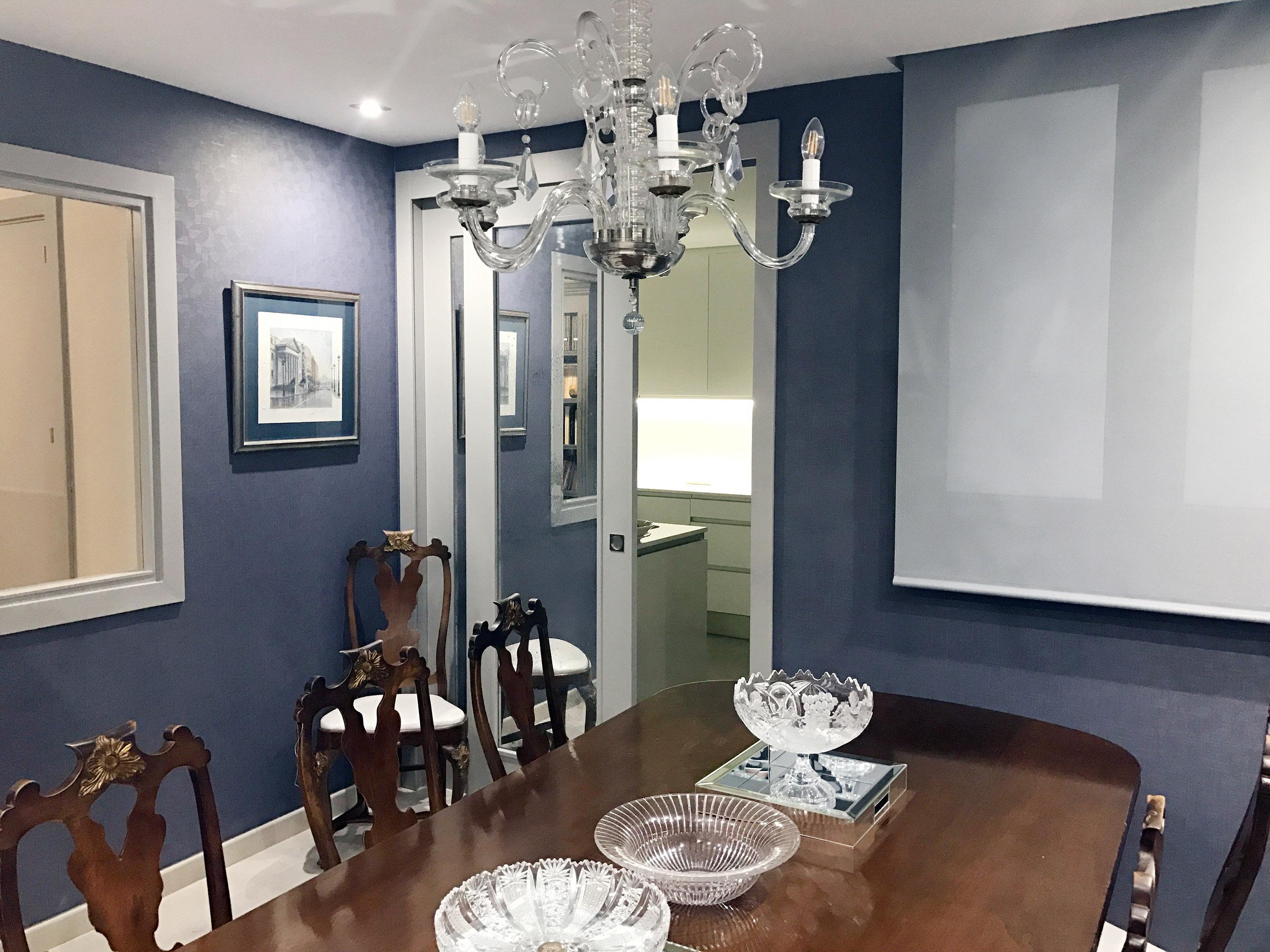 Comedor decorado por el estudio de interiores Libia Bárcenas